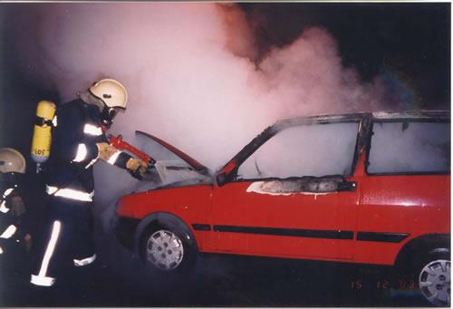 gašenje automobila
